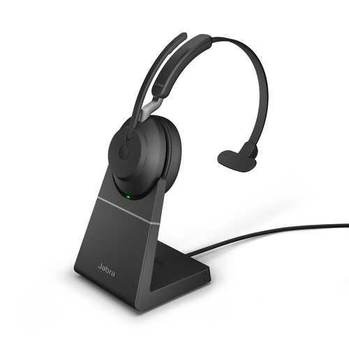 Jabra Evolve2 65 USB-A UC Mono Headset with Charging Stand