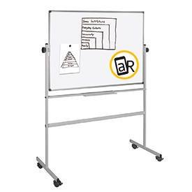 Bi-Office Mobile Melamine Revolving Gridded Board 1800 x 1200mm