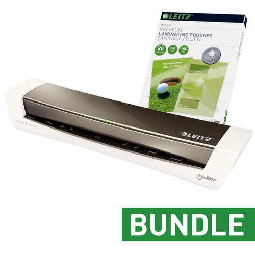Leitz iLAM Home Office A3 Grey Laminator and pouches Bundle