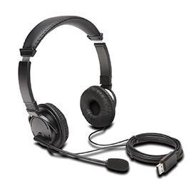 Kensington K97601WW USB-A Stereo Headset with Mic