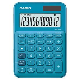 Casio MS-20UC Blue Compact Desk Calculator