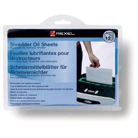 Rexel 2101948 Shredder Lubricant Sheets 12pk
