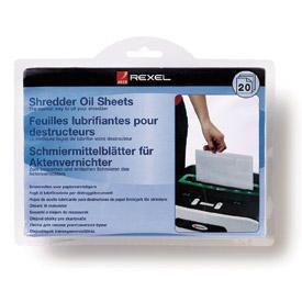 Rexel 2101949 Shredder Lubricant Sheets 20pk