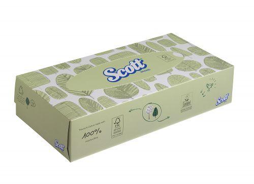 Scott Facial Tissues Box 100 Sheets (Pack of 21) 8837