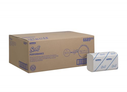 Scott Performance Hand Towels 1 Ply 210x215mm 274 Towels per Sleeve Ref 6689 [Pack 15 Sleeves]