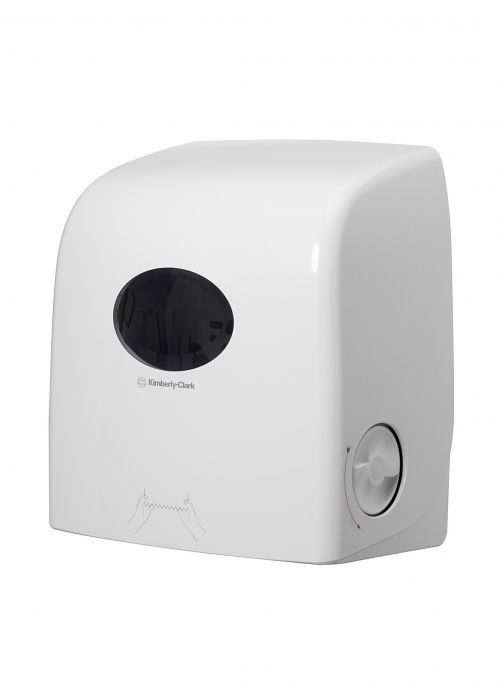 Aquarius White Slimroll Hand Towel Dispenser (Dispenser for Scott Slimroll Hand Towels) 6953 KC03247