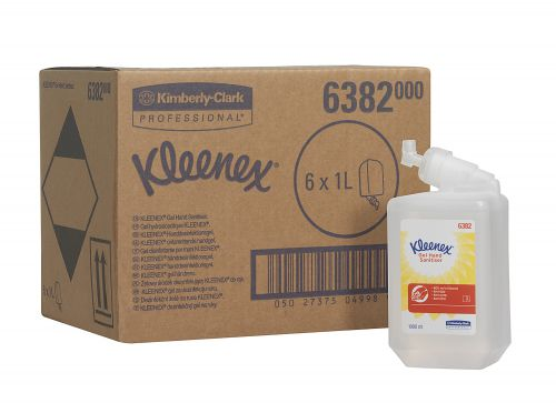 Kimberly-Clark Kleenex Instant Alcohol Hand Sanitiser 1 Litre Cartridge Hand Soap, Creams & Lotions JA3243