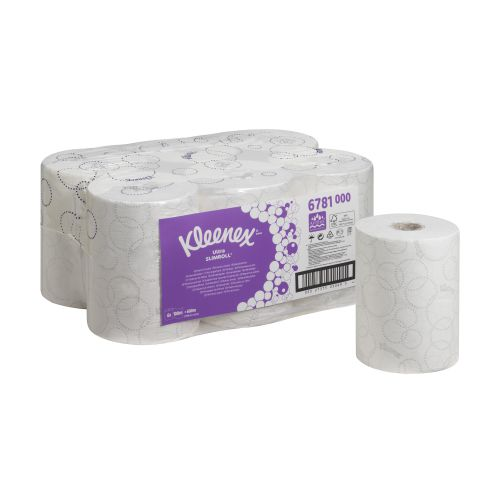 Scott Slimroll 6781 Ultra Hand Towel Roll 198mmx100m 2-Ply White Ref 6781 [Pack 6]