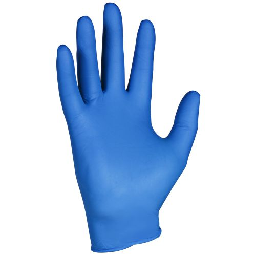 KleenGuard G10 Nitrile Gloves Powder Free Natural Rubber Large Arctic Blue Ref 90098 [Box 200]