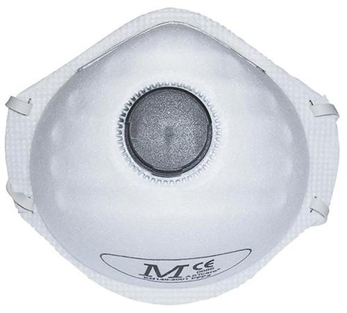 JSP Respirator/DustMask P2 (FFP2) Valved Fold Flat EN149:2001 Ref BEH120-001-000 [Pack 10]