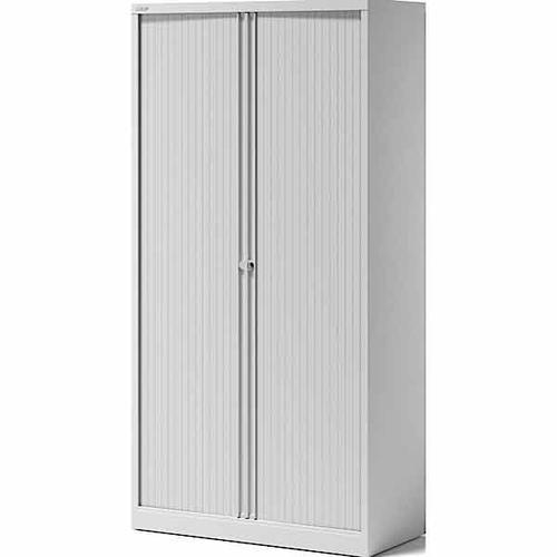 Bisley Essentials 2 Door Tambour Cupboard Goose Grey 1970h x 1000w [YETB1019]Light Grey Shutters  av4av7