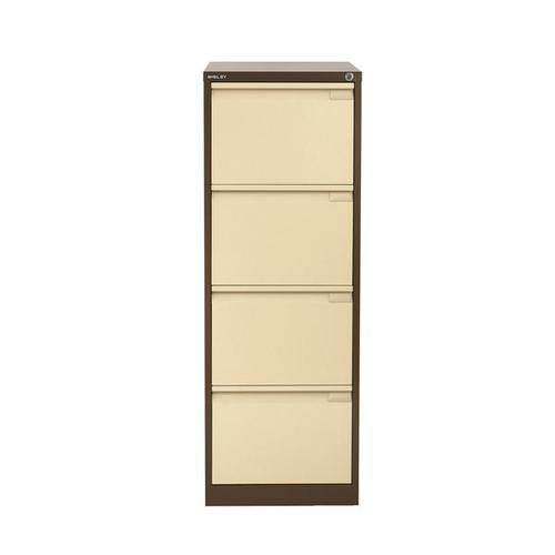 Bisley 4 Drawer Filing Cabinet Coffee Cream BS4 1643-av5vp6
