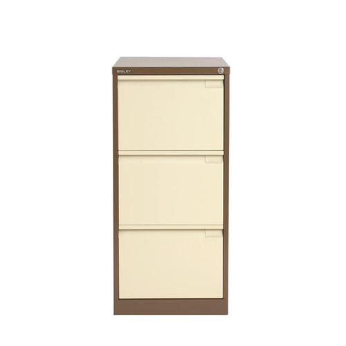 Bisley 3 Drawer Filing Cabinet Coffee Cream BS3 1633-av5av6