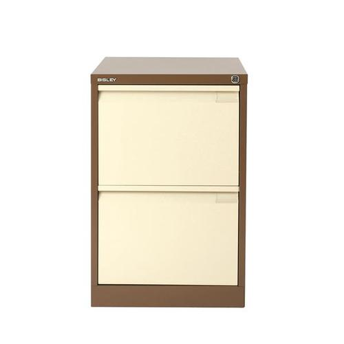 Bisley 2 Drawer Filing Cabinet Coffee Cream BS2 1623-av5av6