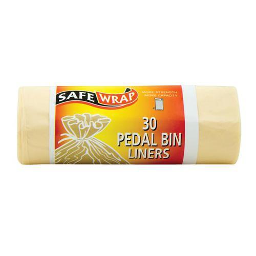Safewrap Pedal Bin Liners 450x1060mm 30 Sacks Per Roll [4 Rolls] 0432