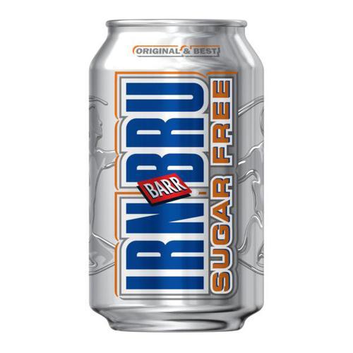 Sugar Free Irn Bru Soft Drink Can 330ml A07079 [Pack 24]