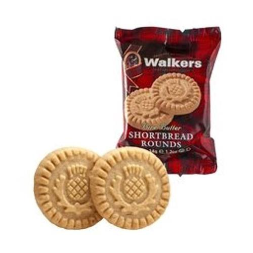 Walkers Shortbread Rounds 2's 34g Ref 148 [Pack 120 x 2]