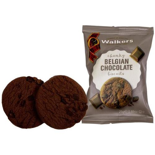 Walkers Belgian Chocolate Chip Biscuits 5002 2's [Pack 50x2)