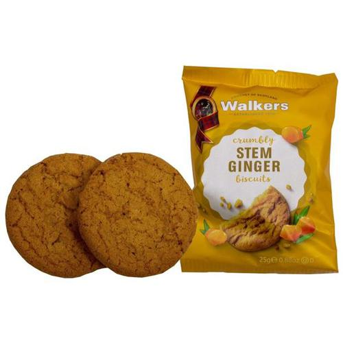 Walkers Stem Ginger Biscuits 5004 [50 packs of 2]