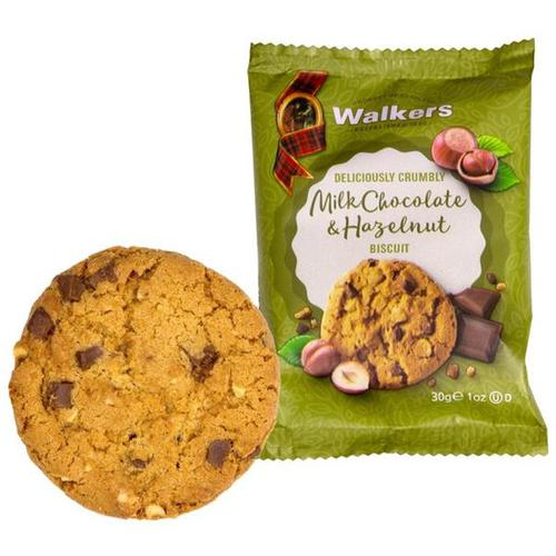 Walkers Large Milk Chocolate & Hazelnut Biscuits 5022 (Pack 60)