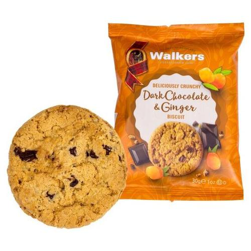 Walkers Large Dark Chocolate & Ginger Biscuits 5023 (Pack of 60)