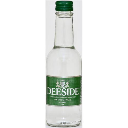 Deeside Natural Mineral Water Glass Bottle 250ml Sparkling [Pack 24]
