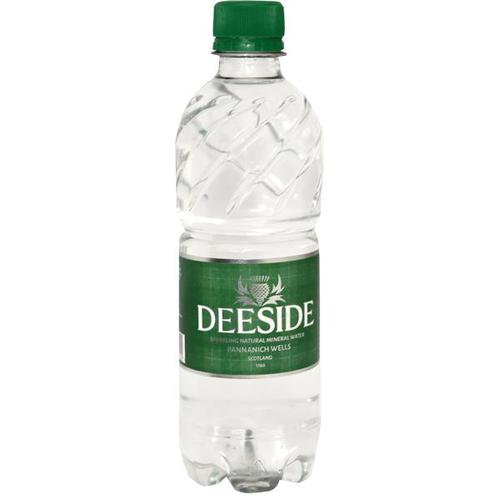 Deeside Natural Mineral Water Plastic Bottle 500ml Sparkling [Pack 24]
