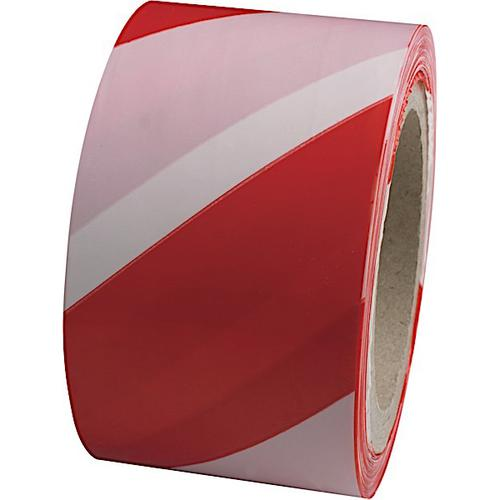 Professional Warehouse/Barrier Tape (Non-Adhesive) Red/White 70mm x 500m