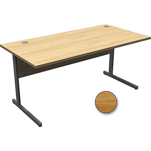 Torasen Aspen Rectangular Desk 800mm Light Oak AS8LO