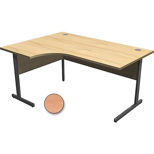 Torasen Aspen Left Hand Radial Desk 1600mm Beech ASRS16LSB