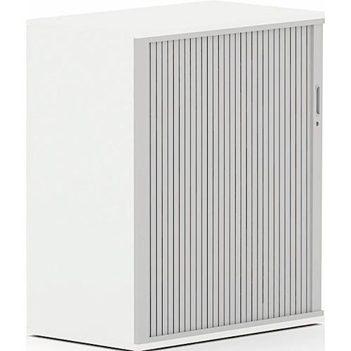 Torasen Side Opening Tambour Cupboard 1200h mm White ASST12WH