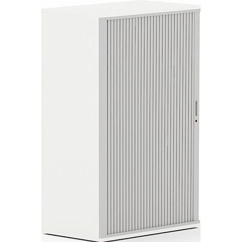 Torasen Side Opening Tambour Cupboard 1600h mm White ASST16WH
