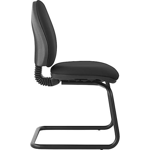 Mercury Medium Back Visitors Chair M20V Charcoal Fabric AD028