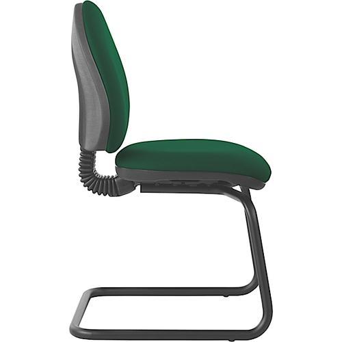 Mercury Medium Back Visitors Chair M20V Aqua Green Fabric AD002