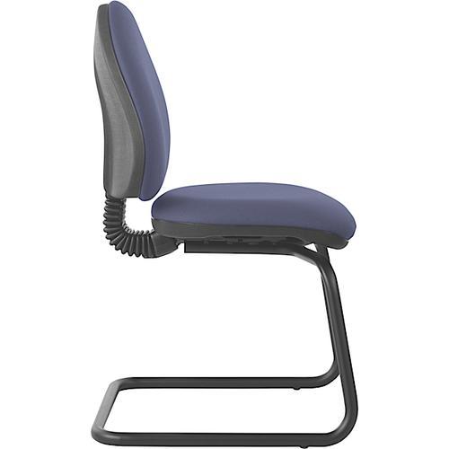 Mercury Medium Back Visitor Chair M20V  Adriatic Blue Fabric AD001