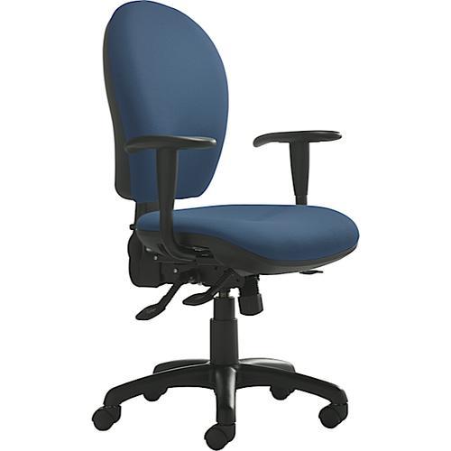 Opus High Back Operator Chair Phoenix Scuba Blue Fabric YP082 OX81HA