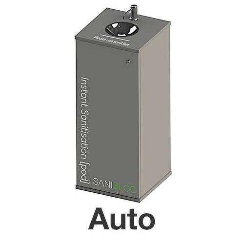 Sanibloc POD200E Sanitation Pod with Auto-Touchless 5L/25L Dispenser & Drip Bowl & Lockable Storage