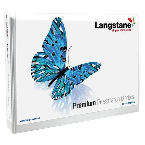 Premium Presentation Binder A3 Oblong 4 D-Ring 50mm Capacity White