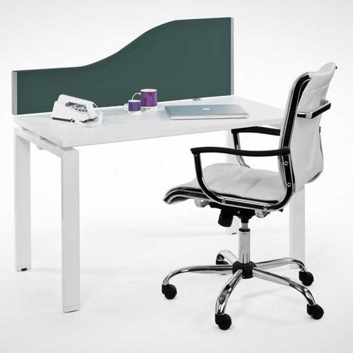 Entry Range Wave Desk Mounted Screen (400/200h x 1600w) Cara Black Fabric/Silver (EL/04-02.16DW)