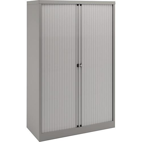 Bisley Essentials 2 Door Tambour Cupboard Goose Grey1070h x 1000w [YETB1011]