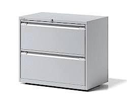 Bisley Essentials 2 Drawer Filing Unit 718h x 800w Goose Grey [YESFDH0807]