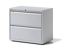 Bisley Essentials 2 Drawer Filing Unit 718h x 1000w Goose Grey [YESFDH1007]