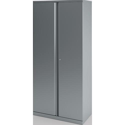 Bisley Essentials 2 Door Cupboard Goose Grey 1270h x 914w [YECB0912]