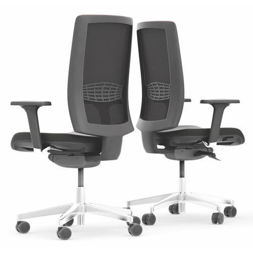 Edge Kind Mesh Back Task Chair w/ 3D Arms, Lumbar -Black Mesh/Phoenix Havana (KDT03B/3D)
