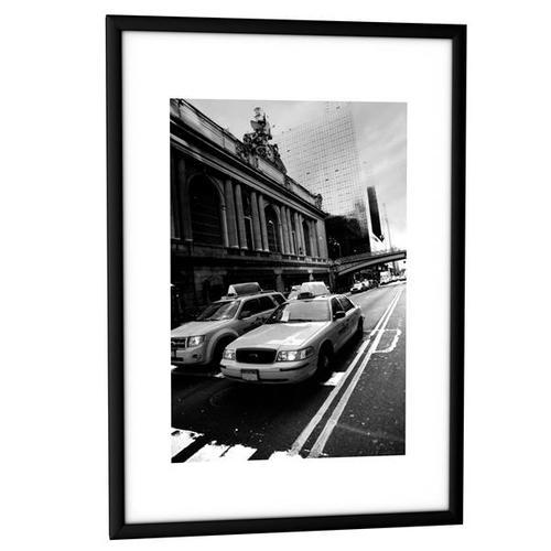 Fast Paper Decoration Frames A4 Plexi-Glass Brushed Aluminium BLACK [Pack 12] 12CCFA4.01