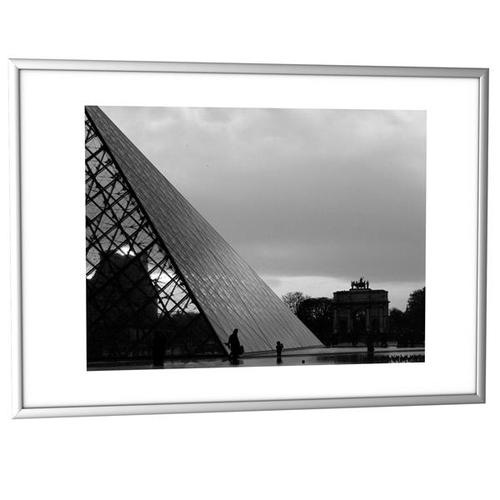 Fast Paper Decoration Frames A3 Plexi-Glass Brushed Aluminium SILVER [Pack 6] 6CCFA3.35