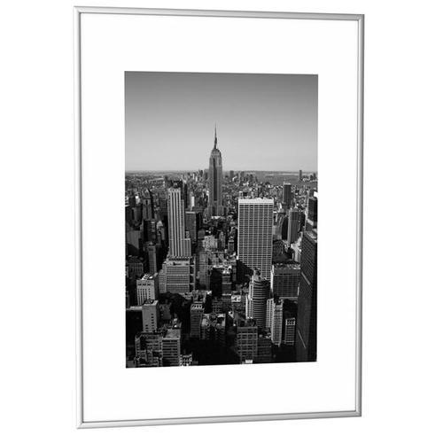 Fast Paper Decoration Frames A2 Plexi-Glass Brushed Aluminium SILVER [Pack 6] 6CCFA2.35