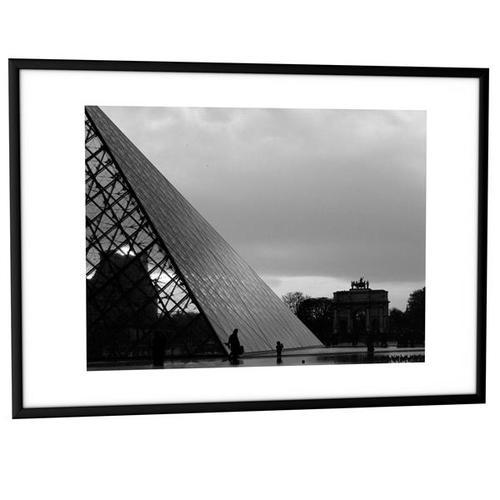 Fast Paper Decoration Frames 30x40cm Plexi-Glass Brushed Aluminium BLACK [Pack 6] 6CCF 30X40.01