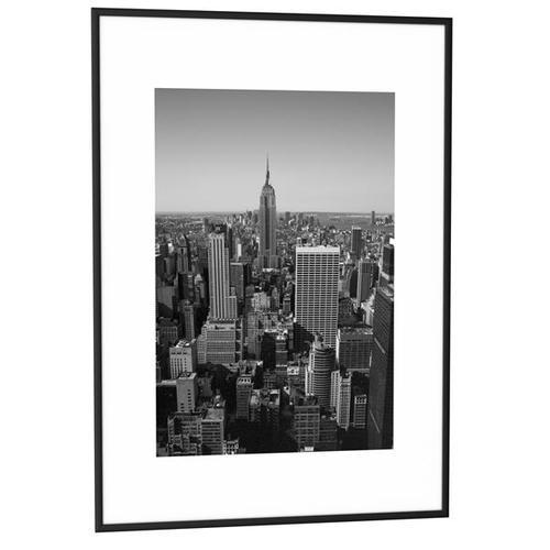 Fast Paper Decoration Frames 50x70cm Plexi-Glass Brushed Aluminium BLACK [Pack 6] 6CCF50X70.01