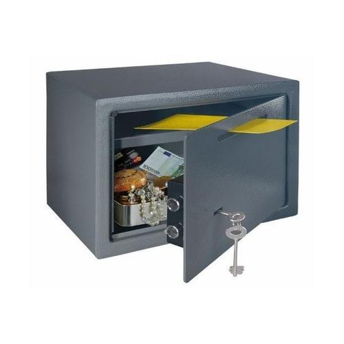 Rottner 24.5 Litre Key Lock Deposit Slot Safe LE-Deposit Black T05777